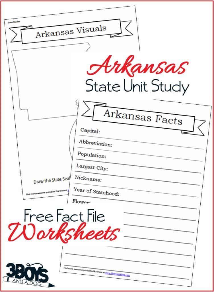 Free Arkansas State Fact File Worksheets