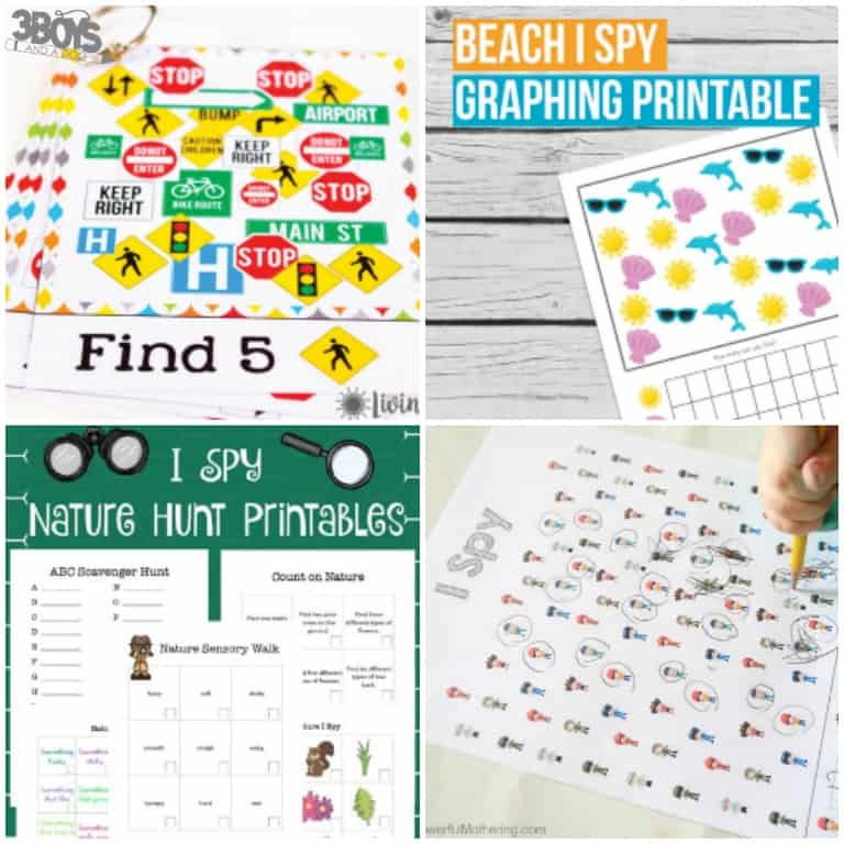 I Spy Printables for Kids to Use