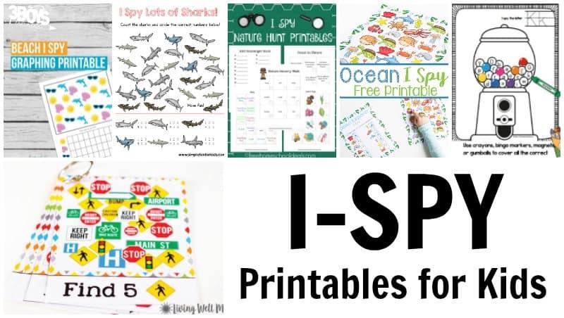 I Spy Printables for Kids