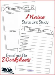 Learn about Maine with these Fact File Worksheets