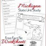 Michigan State Fact File Worksheets
