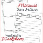 Missouri State Fact File Worksheets