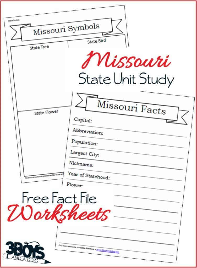 Learn about Missouri with these Fact File Worksheets