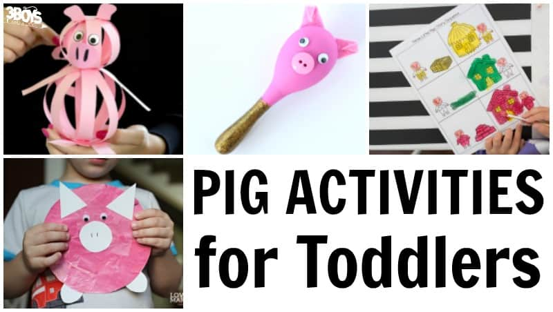 Pig Activities for Toddlers to Do