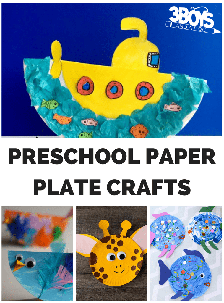 Preschool Paper Plate Crafts
