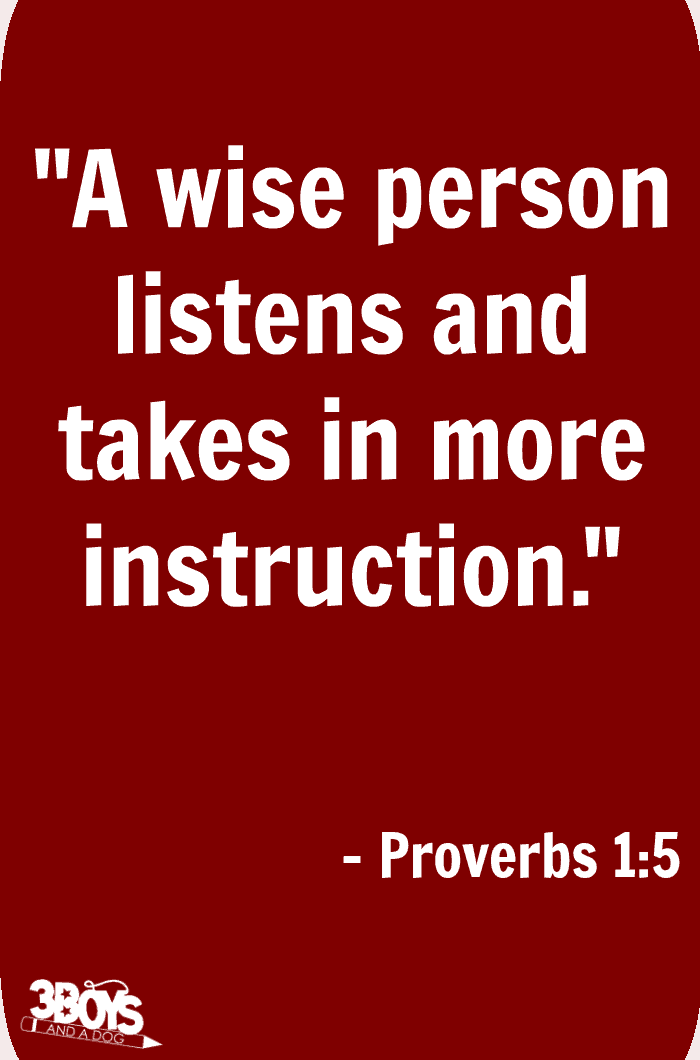 Proverbs 1 verse 5