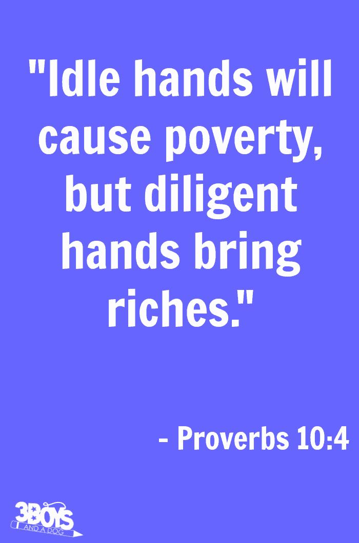 Proverbs 10 verse 4