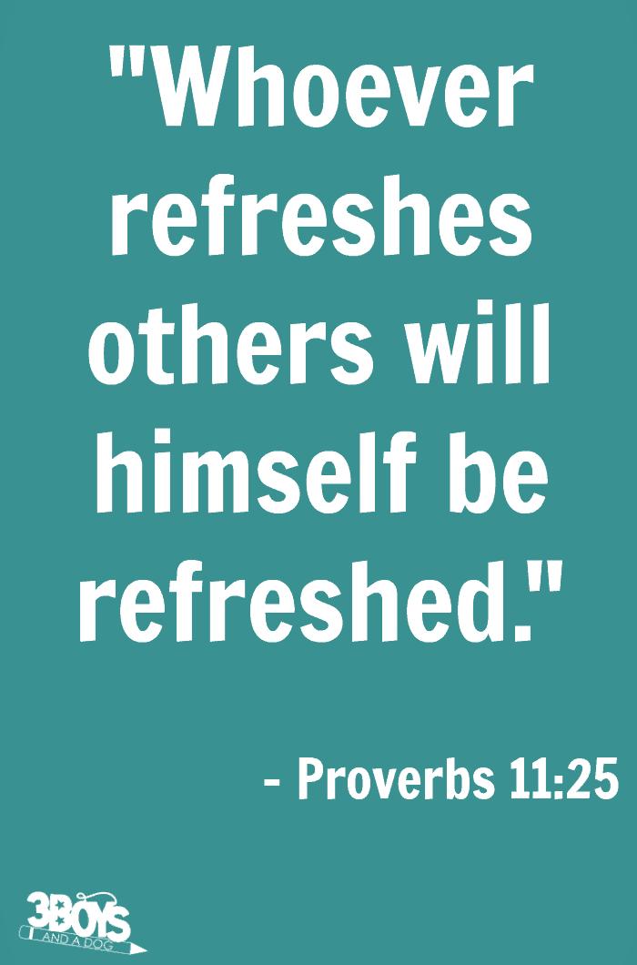 Proverbs 11 verse 25