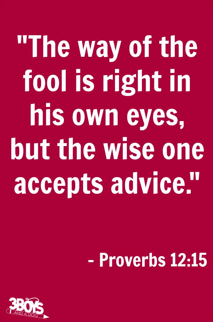 Proverbs 12 verse 15