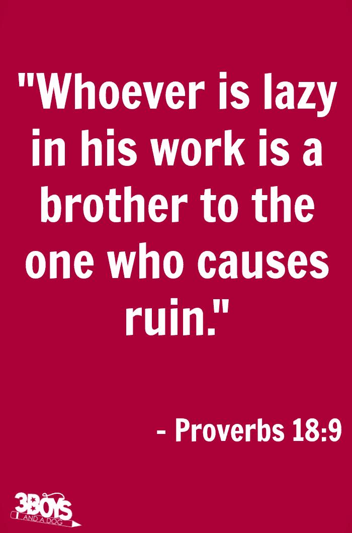 Proverbs 18 verse 9