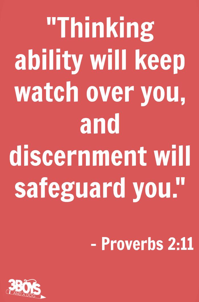 Proverbs 2 verse 11