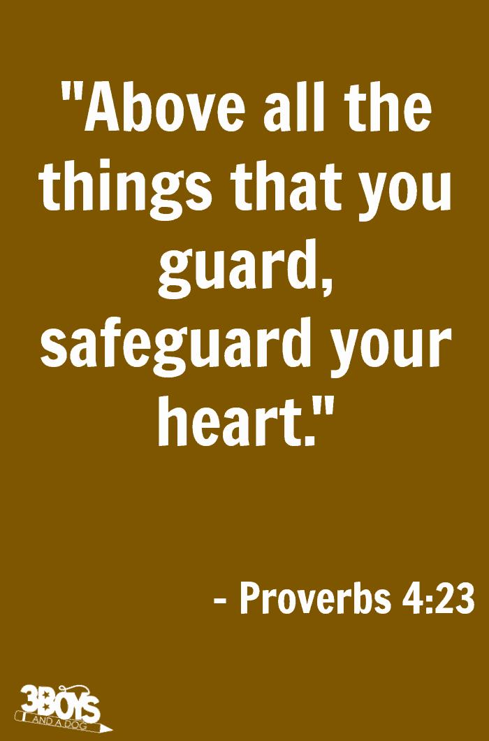 Proverbs 4 verse 23