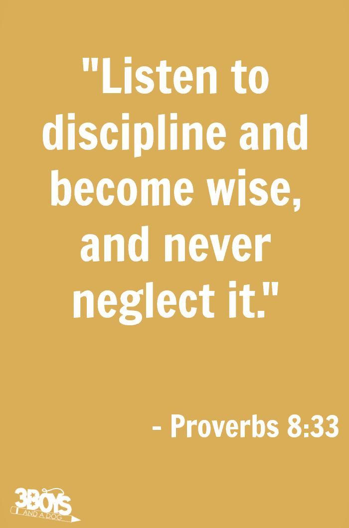 Proverbs 8 verse 33