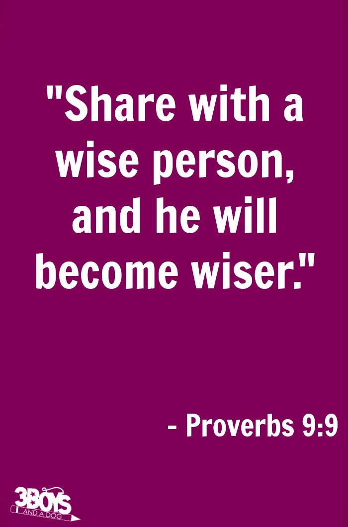 Proverbs 9 verse 9