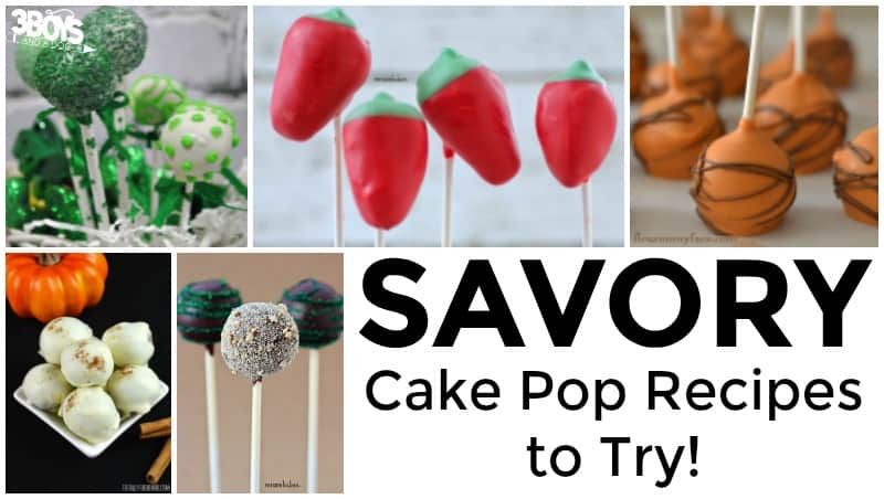 Savory Cake Pop Recipes to Try