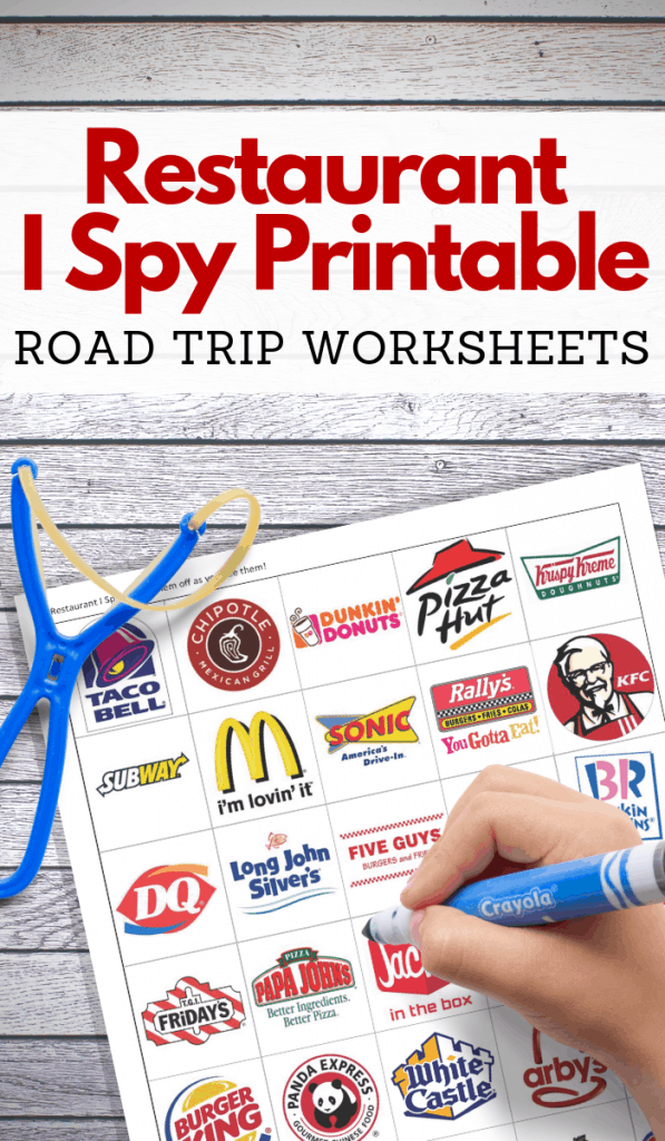 free road trip i spy travel game printable