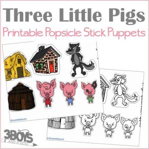 3 Pigs Puppet Printables
