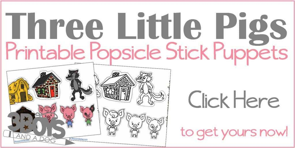 Fan image throughout three little pigs printable story