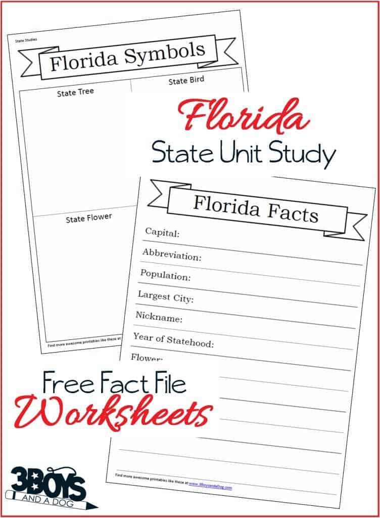 Florida Fact File Worksheets