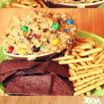 Every tailgating party needs a dessert! And there's no better to way to go big at your party than with this dessert - Monster Cookie Dough Dip. It's a fun dessert recipe every tailgater and kids will love!
