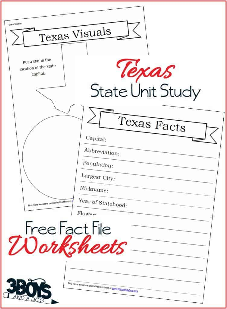 Free Texas Worksheets to help your children learn about this great Southern State!