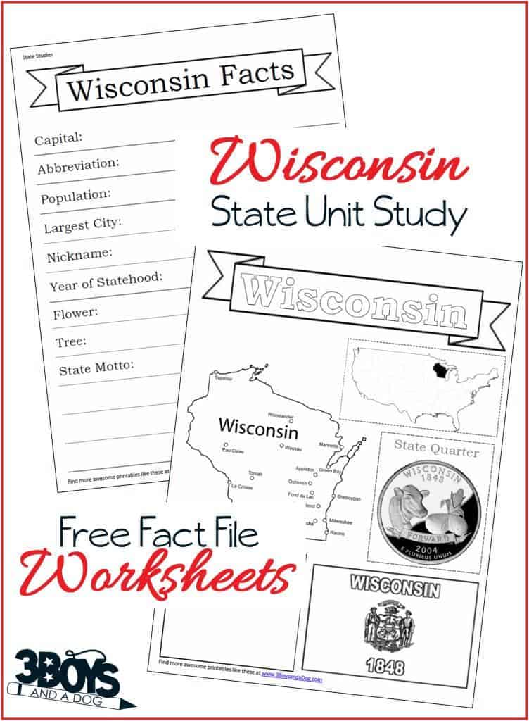 These Wisconsin State Fact File Worksheets are the perfect worksheets to help you and your child record many facts about the state of Wisconsin.