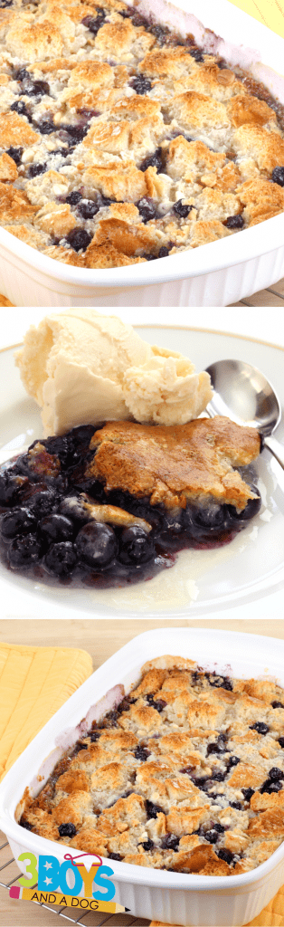 This Blueberry Cake Mix Cobbler Recipe is a favorite eaten almost right out of the oven AND it makes the entire house smell so delicious!