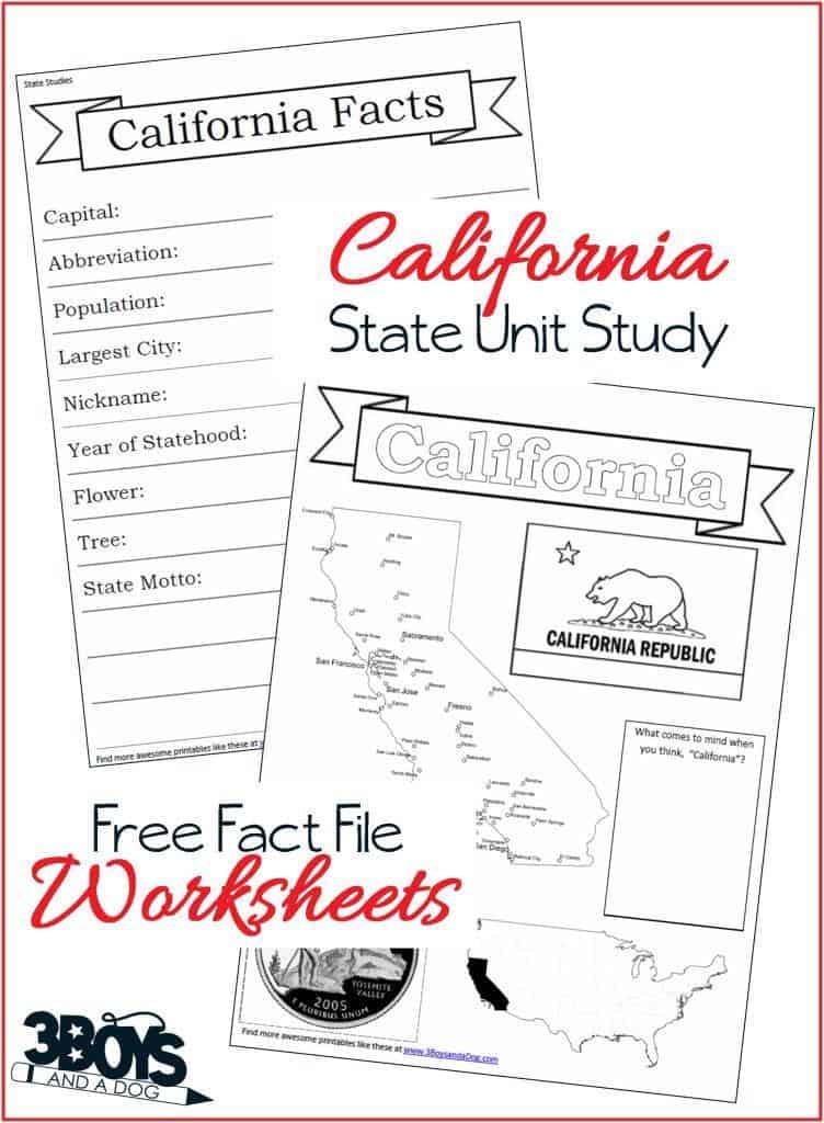 California Statue Unit Study Fact Files