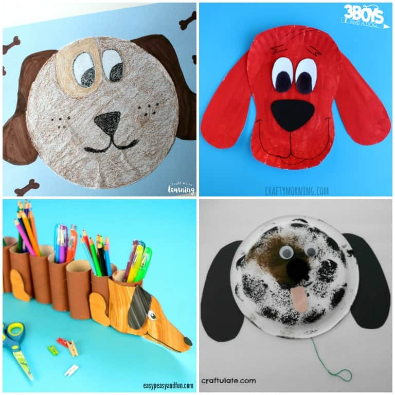 Dog Crafts for Kids to Make at Home
