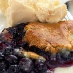 Blueberry Cobbler made with Cake Mix