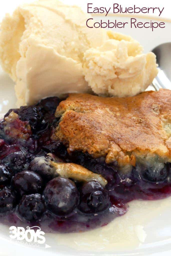 blueberry cobbler with yellow cake mix