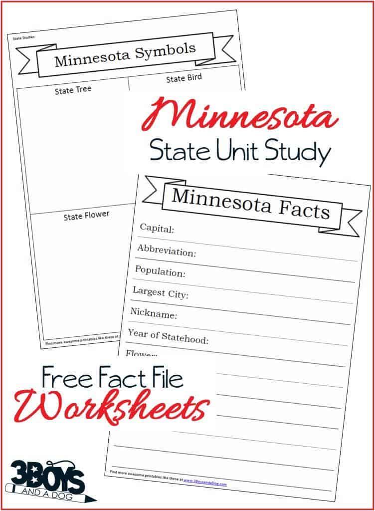 Free Minnesota Fact File Worksheets