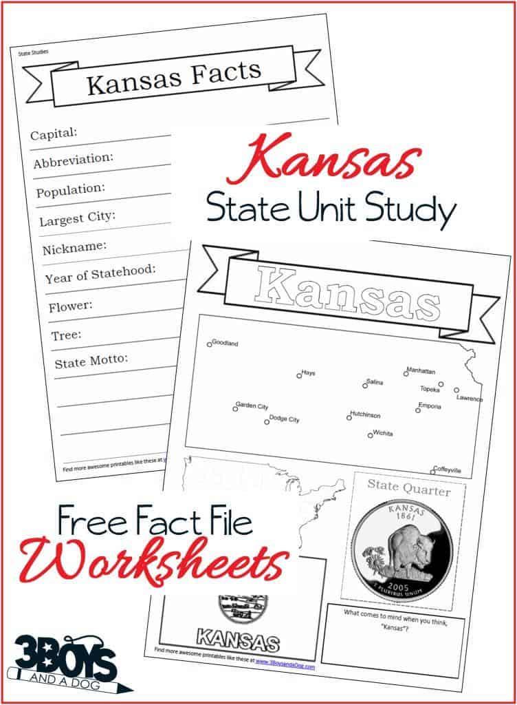 Kansas State Fact File Worksheets