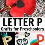 Letter P Crafts for Preschoolers