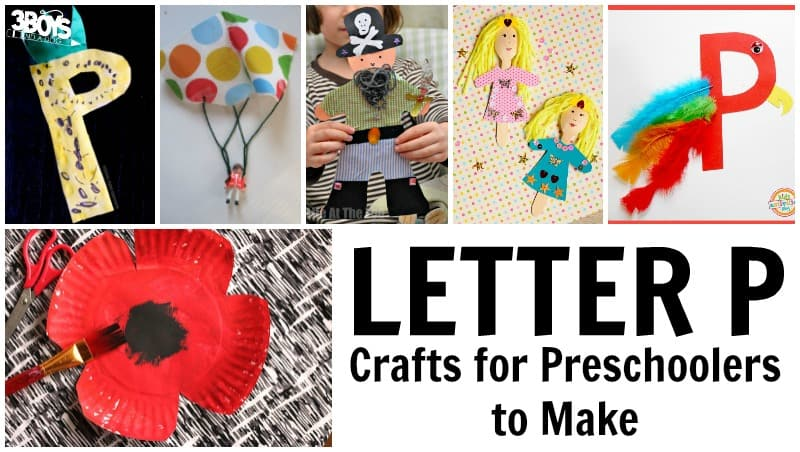 Letter P Crafts for Preschoolers to Make