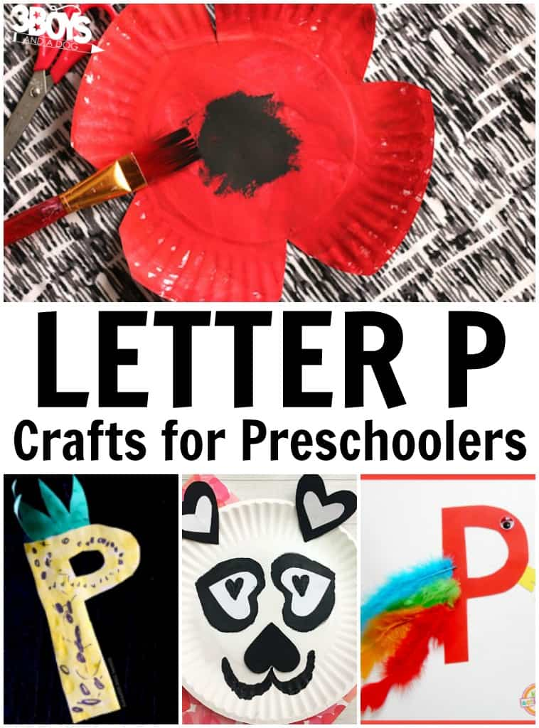 Letter P Crafts for Preschoolers
