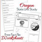 Oregon State Fact File Worksheets
