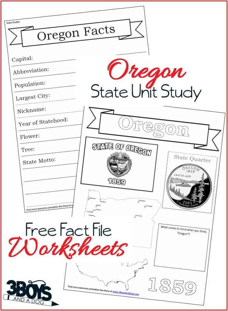 oregon state fact file worksheets 3 boys and a dog. Black Bedroom Furniture Sets. Home Design Ideas
