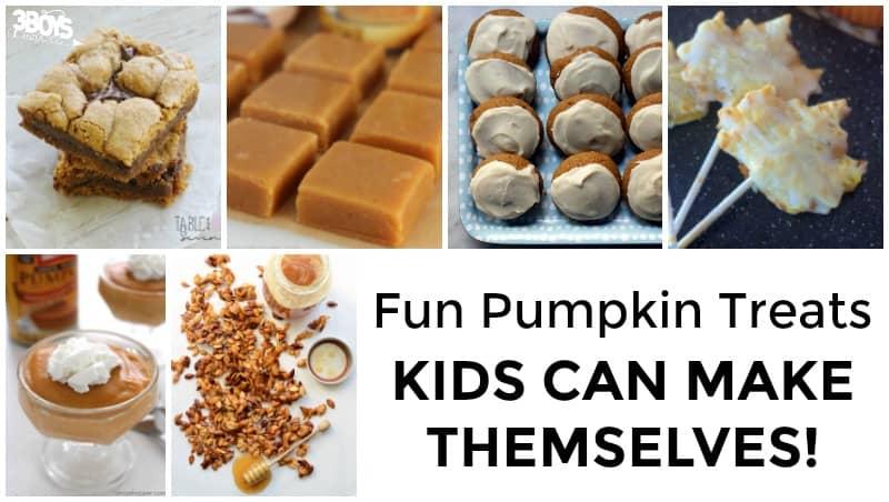 Pumpkin Treats Kids Can Make with Parents