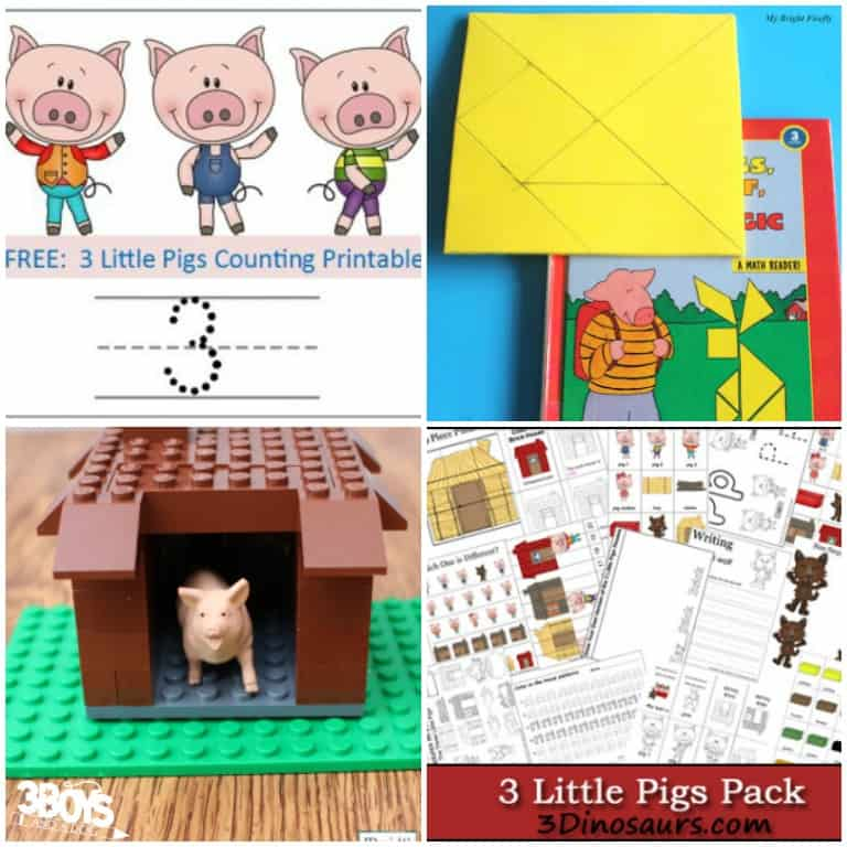 Three Little Pigs Math Activities for Kids to Try