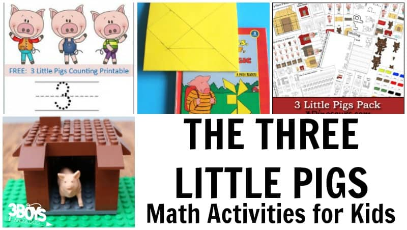 Three Little Pigs Math Activities for Kids