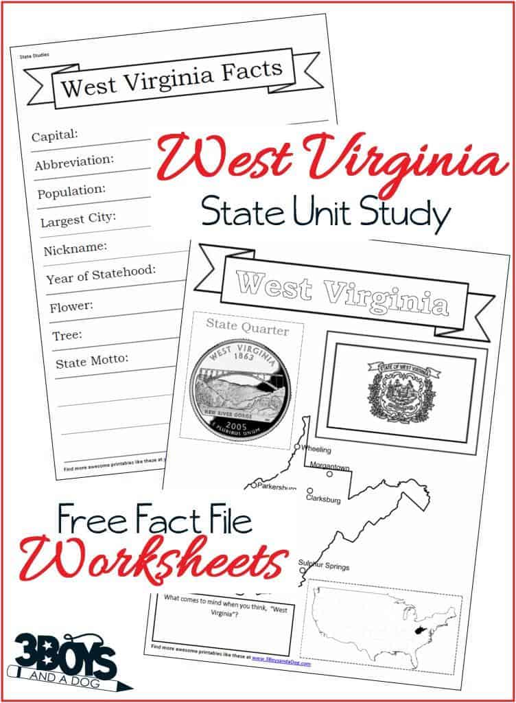 West Virginia Fact File Worksheets