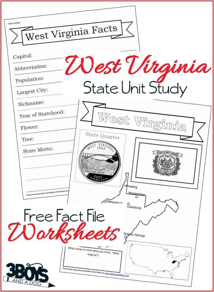 West Virginia Fact File Worksheets