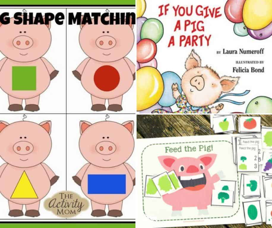 if you give a pig a party printables and activities for kids