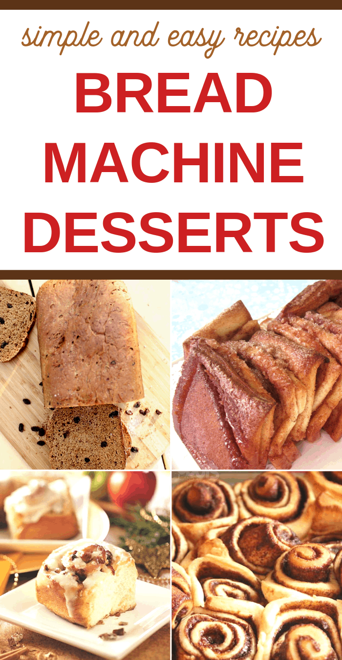sweet and tasty bread machine desserts