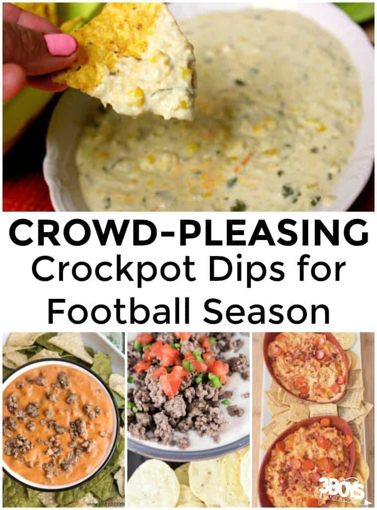 Crockpot Dips for Football Season