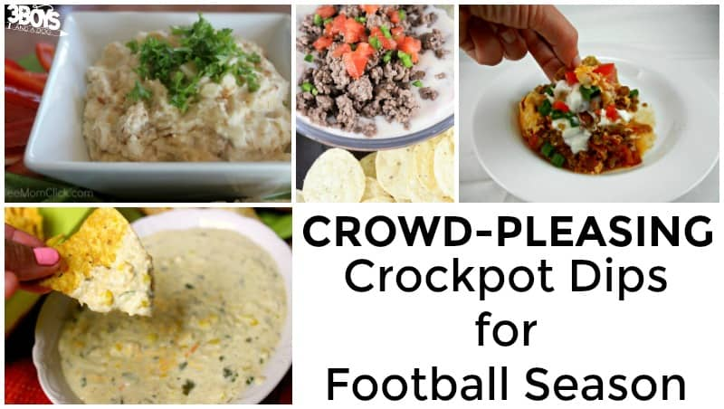 Crowd Pleasing Crockpot Dips for Football Season