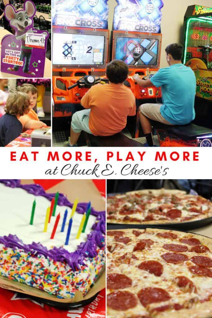 EAT MORE, PLAY MORE at Chuck E Cheese's