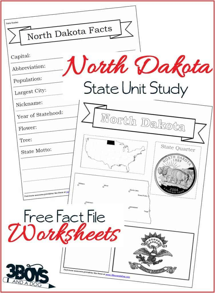 North Dakota Fact File Worksheets