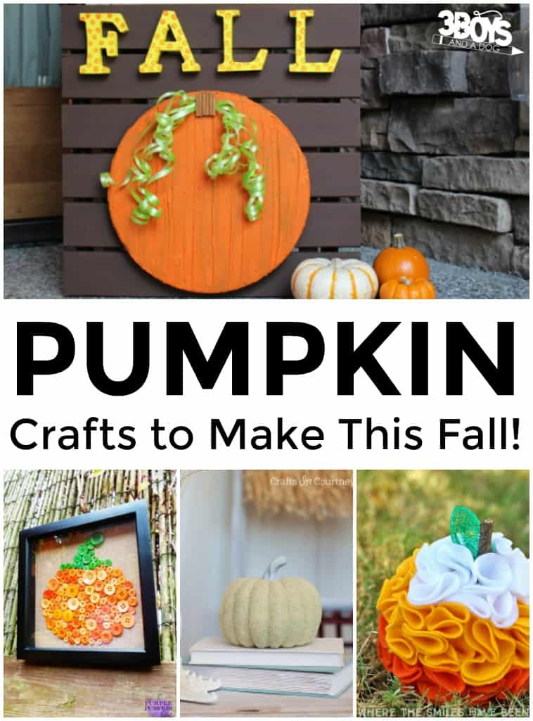 Pumpkin Crafts to Make This Fall
